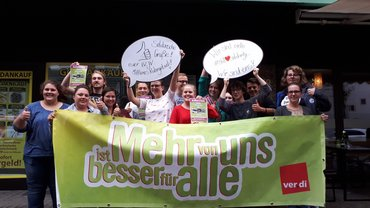 Solidaritätsaktion Jugend MRG für Streiks an Unikliniken