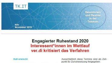 Flyer Engagierter Ruhestand Telekom - Teaser