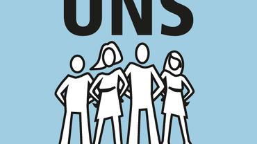 Bild einer Gruppe mit dem Logo für uns und dem Motto der PR-Wahlen 2020: Gemeinsam für eine starke Vertretung