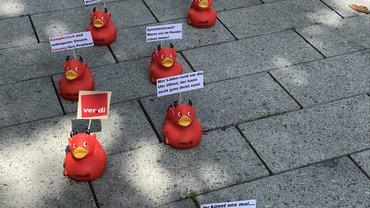Aktion Kampfentendemo am 08.05.2020 in Bochum