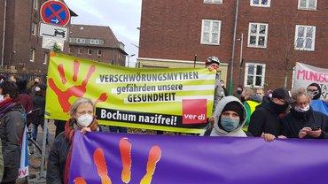 Protest Solidarität statt Verschwörung Bochum 21.11.2020