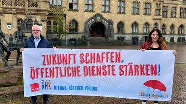 """ver.di Personalräte im Kreis Recklinghausen: Aktion """"Kommunen in Not"""""""