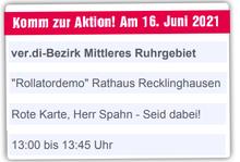 """Aufruf zur """"Rollatordemo"""" 16. Juni 2021 Recklinghausen"""